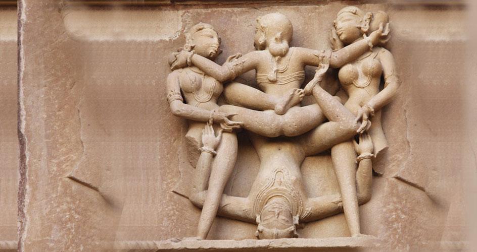 Kamasutra figures at Khajuraho