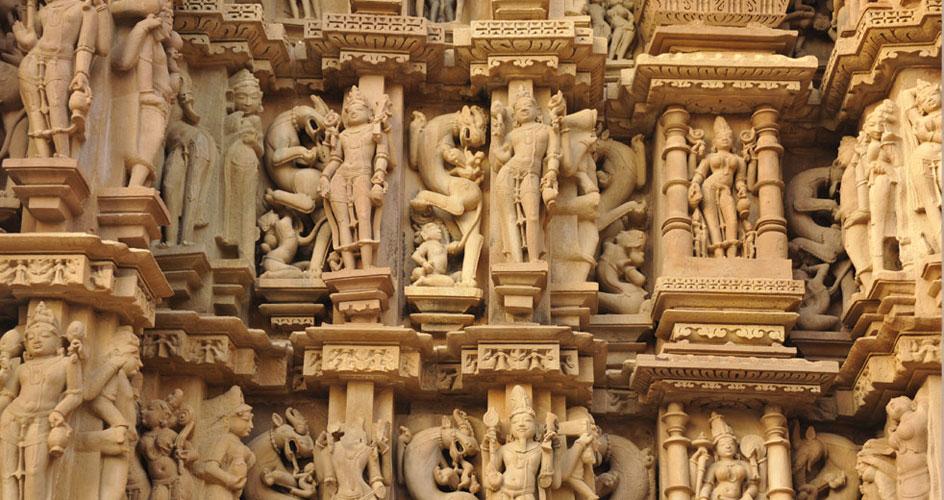 Sculptures at Khajuraho Temple
