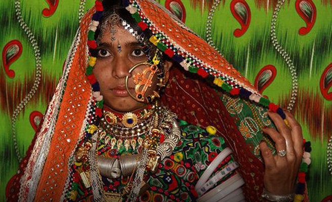 Bhils Lady in Traditional Dress