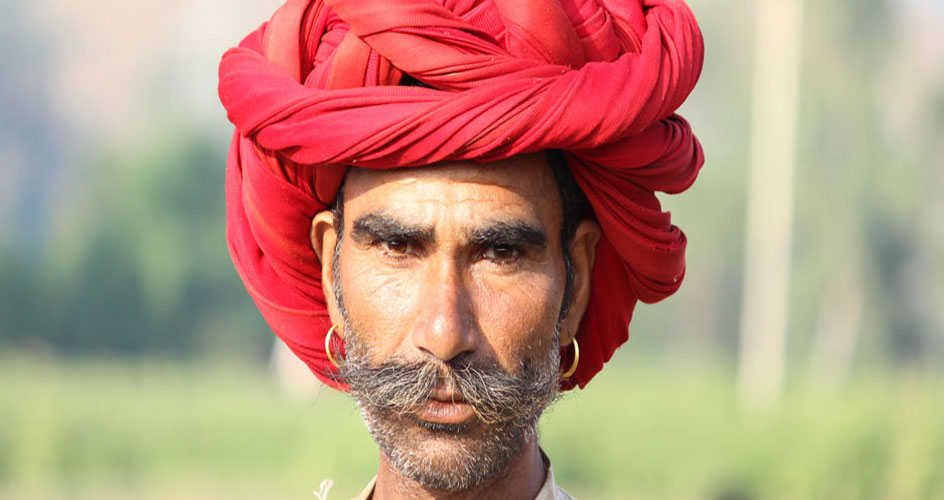 Rabari Man Wearing Turbal During Gujarat Tribal Tour