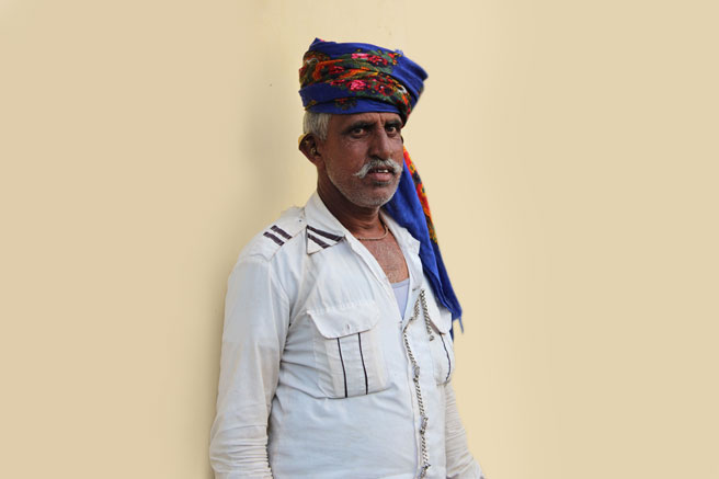 Bharwad man in his home
