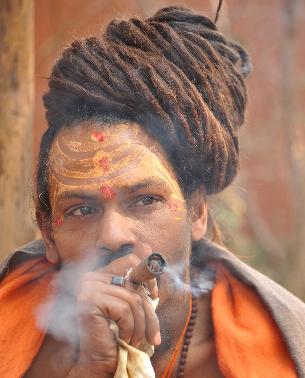 Sadhu at Rajim Kumbh