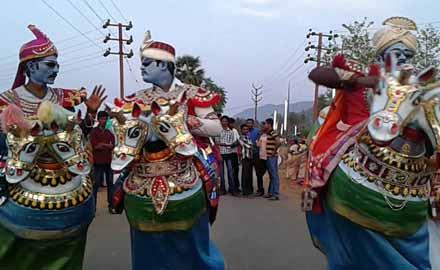 Poikal Kudirai Attam, Tamil Nadu