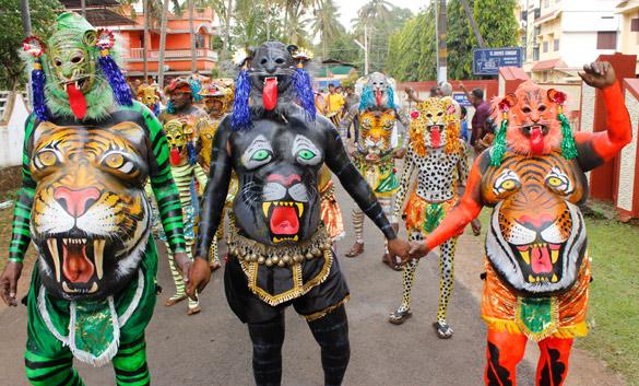 Pulikali procession