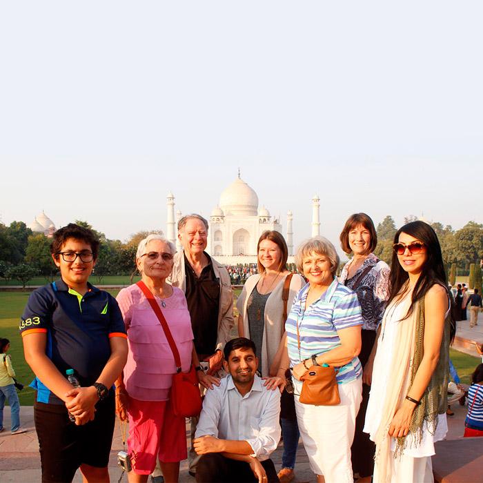 Our Group At Taj Mahal