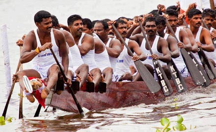 Boat Race During Onam